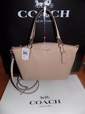NWT Coach F36675 Pebble Leather Small Kelsey Satchel Crossbody  Beachwood  $295