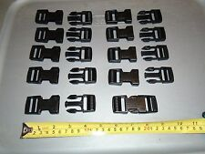 10 GENUINE US MILITARY MOLLE ITW NEXUS FASTEX SR1 DOUBLE ADJUST BLACK BUCKLES 1""