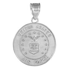 925 Sterling Silver US Air Force Coin Pendant