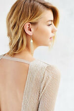 Urban Outfitter Flashback Fringe Drops Dangle Earrings NWT $45 GOLD