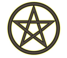 Interior Window Car Sticker WITCH broom wicca wiccan pentacle pentagram bumper 1