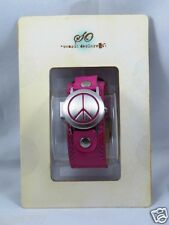 T32:New $19.99 SO Women's Analog Watch w/ Flip Cover-Pink Peace