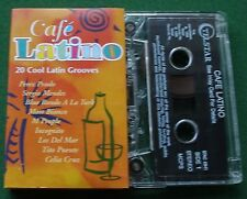 Cafe Latino 20 Latin Grooves Tito Puente Celia Cruz + Cassette Tape - TESTED