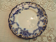 "Flow Blue Ridgway Ebor 9"" Luncheon Plate #3"