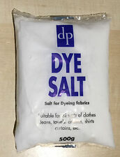 DP DYE SALT 500g FOR DYING JEANS CLOTHES CURTAINS TOWELS USE WITH DYLON DYES