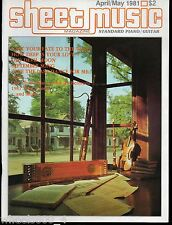 Sheet Music Magazine April/May 1981 Standard Piano / Guitar Music Cole Porter