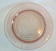"Hocking Glass Queen Mary Pink Depression 9 ¾"" Dinner Plate(s)"