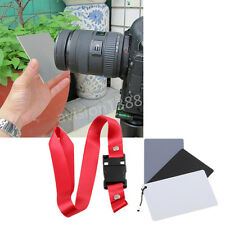 Digital Grey Card White Black 18% Gray Color Balance Strap Band For SLR Camera