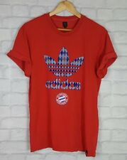 VINTAGE ADIDAS ORIGINALS BAYERN MUNCHEN MUNICH TRIKOT TEE T SHIRT COTTON UK L