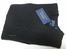 $398 NWT polo Ralph Lauren soft 100%  cashmere cable sweater Black S
