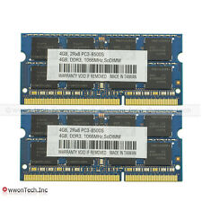New 8GB 2x4GB PC3-8500 DDR3-1066MHz 204pin SODIMM Laptop Notebook Memory RAM