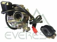 NEW 49cc 50cc GY6 ATV MOPED SCOOTER 139QMB CARBURETOR & MANIFOLD KIT CARB 28mm
