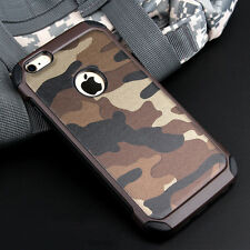 Army Camouflage Phone Protector Back Case Cover For Apple iPhone 6 6s 7 Plus 5S