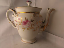 ancienne cafetiere porcelaine de paris 19e fleur peinte style empire