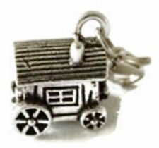 BEAUTIFUL SILVER GYPSY CARAVAN  CLIP ON CHARM FOR BRACELETS - SILVER ALLOY - NEW