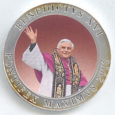 Medaille Status Vaticanus 2005 Benedictus Pontifex Farbe Ø 40 mm 28 Gr. B47/11