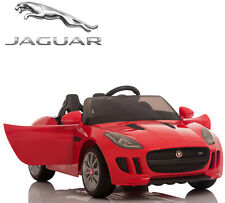 Ride On Car Kids Jaguar F-TYPE 12V Battery Power Wheels RC Remote Red