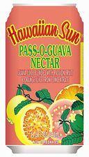 HAWAIIAN SUN Natural Pass O Guava Nectar Fruit Drink (Two 6 Pack of 11.5oz Cans)