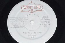 """JAKKI-you are the Star - 12"""" West End ORIGINALE Records Wes (12103)"""