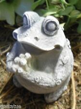 Gostatue praying latex only frog mold plaster rapid set cement all mould