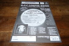 CORPSE BRIDE - NOCES FUNEBRES DE TIM BURTON - BOF - Plan média / Press kit !!!