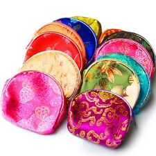 5 PCS Chinese Silk Pouch Wallet Coin Purse Jewelry Gift  Bag Random Color E012