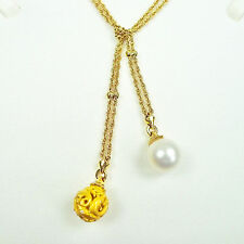 Carrera Y Carrera Women's Dolphin & Pearl Necklace 18k Yellow Gold