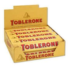 Toblerone Swiss Milk Chocolate Bars candy with Honey and Almond Nougat (20 bars)