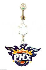 Belly Ring NBA Basketball Phoenix Suns Logo Sports Dangle Naval Body Jewelry