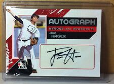 2011 IN THE GAME SILVER #A-JHA JAKE HAGER AUTOGRAPH TAMPA BAY RAYS AUTO