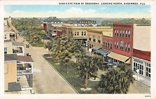 c.1920 BEV Stores Broadway looking North Kissimmee FL post card