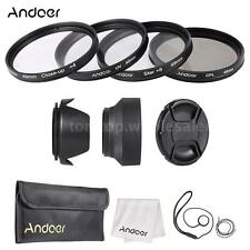 49mm Lens Filter Kit (UV,CPL,Star+8,Close-Up+4 ) +Cap Hoods for Nikon Canon V7D4