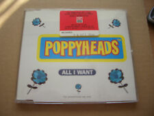 POPPYHEADS - ALL I WANT - PROMO CD SINGLE IN A JEWEL CASE