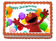 Elmo Birthday Child Premium Frosting Sheet Cake Topper FREE Personalization