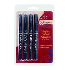 Manuscript CalliCreative Calligraphy Markers Black Set of 4 Italic Pens EF F M B