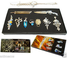 Final Fantasy Necklace Pendant Keychain Ring Sword Collections 9pcs Set New Box
