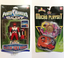 Bandai POWER RANGERS Pink Micro Morphin Playset +Lost Galaxy Red Blasting Ranger