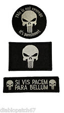 Punisher Para Bellum Revenge Military Tactical, Airsoft patch set of 3