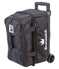 Brunswick Blitz Black 2 Ball Roller Bowling Bag