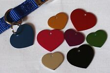 HEART ID Tag - Pet Dog Cat Small/Large 8 Colors to choose from ENGRAVED!