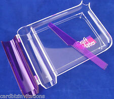 BEAD TRAY Craft Mates EZY Sort Chute Spatula for Beads Findings Seeds NEW Purple