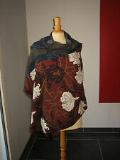MAGNIFIQUE GRANDE ECHARPE ETOLE SCARF STOLE 100%  LAINE WOOL SAVE THE QUEEN