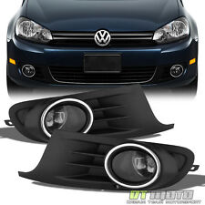 Smoked 10-14 Golf MK6 TDI TSI Jetta Vent Grill Cover+Fog Lights+Switch 2010-2014