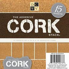 DCWV Kork 15 selbstklebende Korkplatten 15x15cm 6x6inch Cork Stack NEU