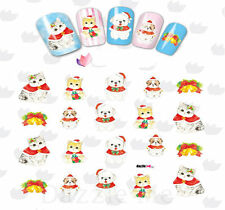 Nail Art Sticker Water Decals Transfer Stickers Christmas Cats & Dogs (DbL2329)