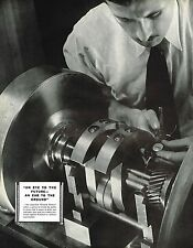 1935 BIG Vintage General Motors 2 Page Auto Engine Camera Machine Photo Print Ad