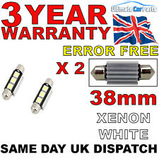 2 X 38MM 3 SMD LED 239 272 C5W CANBUS NO ERROR INTERIOR LIGHT FESTOON BULB WHITE