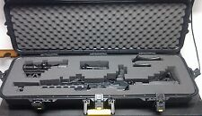 Gun Case Storage Waterproof Safety Lockable Hard Shell AR-15 Rifle Firearm Scope