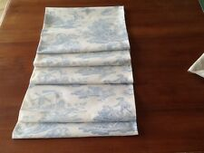 Laura Ashley  fabric Table Runner Toile de Jouy Bleu  2m x  31cm Fully Lined