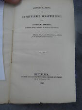 V. Stoeber L'ophthalmie scrophuleuse Monoyer ophtalmologie optique médecine